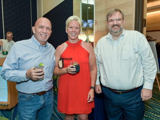 Brad and Mary Jones with Martin Woods at the Mr. StudFinder