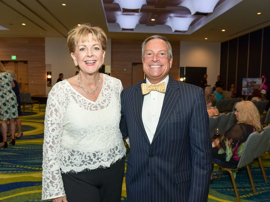 Beverly Bevis-Jones and Paul Hamaty at the Habitat for Humanity of Martin County's annual Mr. StudFinder Charity Auction at Hutchinson Shore Resort.