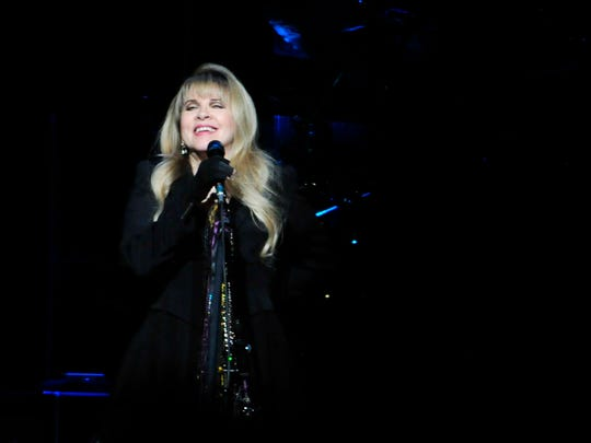 Stevie Nicks of Fleetwood Mac performs at Bridgestone Arena in Nashville, Tenn. March 18, 2015.