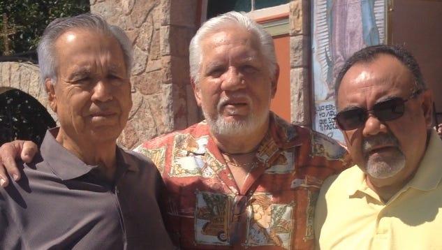 Ruben Valenzuela, left, Javier Martinez, and Art Saucedo