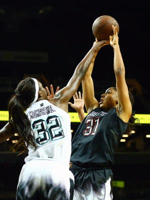 Kristin Anigwe (31) of Phoenix was a reserve on the U.S. gold medal-winning team at the U19 World Championships.