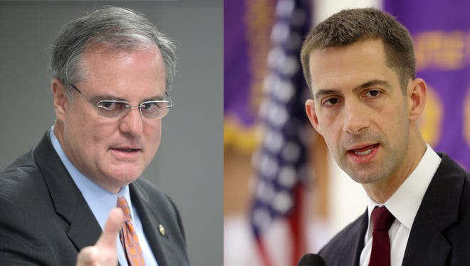 Democratic U.S. Sen. Mark Pryor (left) and Republican challenger Tom Cotton (right) will meet in two televised debates today and Tuesday.