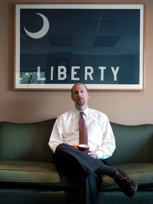 David French at the Foundation for Individual Rights in Education in Philadelphia on Wednesday, Aug. 17, 2005.