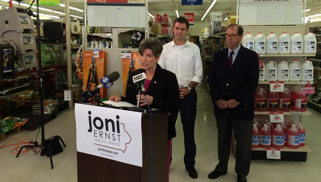 Republican U.S. Senate candidate Joni Ernst received the general-election endorsement of the U.S. Chamber of Commerce on Tuesday.