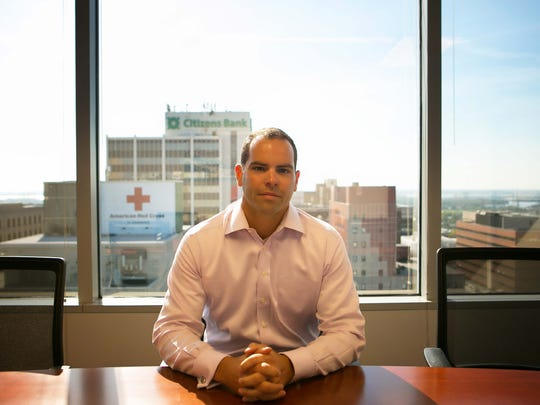 Blaise Fletcher, executive vice president of Jones Lang LaSalle, in the conference room of his Wilmington office.