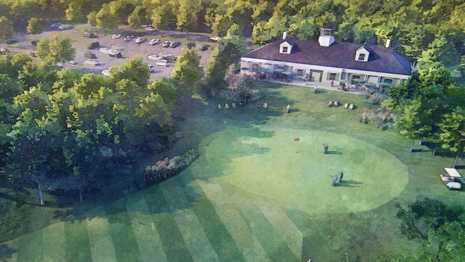 An artist rendering of plans for the Whaling City Golf Course.