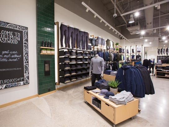 The interior of the lululemon store at Eastwood Towne