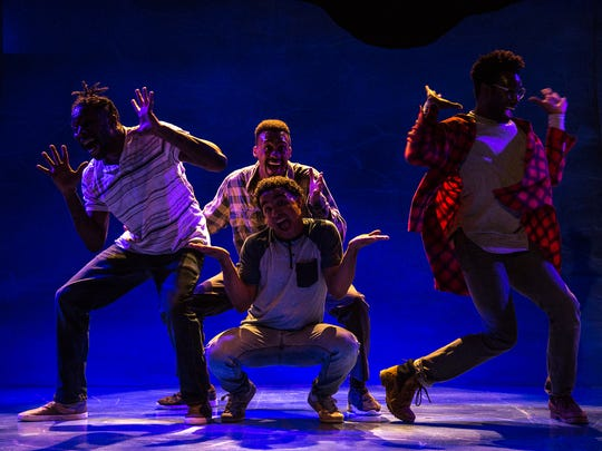 """The four cast members of Know Theatre's production of James Ijames' """"Kill Move Paradise"""" are, from left, Landon E. Horton, Elliott Young, Crystian Wiltshire and Darnell Benjamin."""