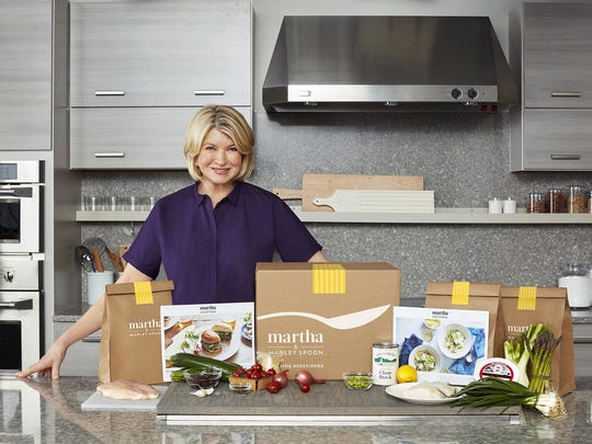 Martha Stewart recently launched Martha & Marley Spoon, a meal kit delivery service that features Stewart's recipes.