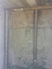 The stash cave had wooden posts inside to prevent it from collapsing