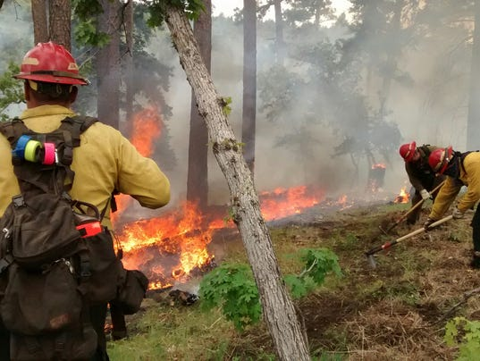 firefighters on reservation