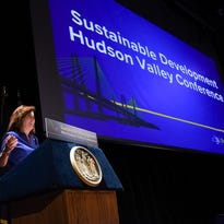 Lt. Gov. Kathy Hochul speaks during the Conference on Sustainable Development & Collaborative Governance at the Culinary Institute of America in Hyde Park on Wednesday, Oct. 19, 2016.