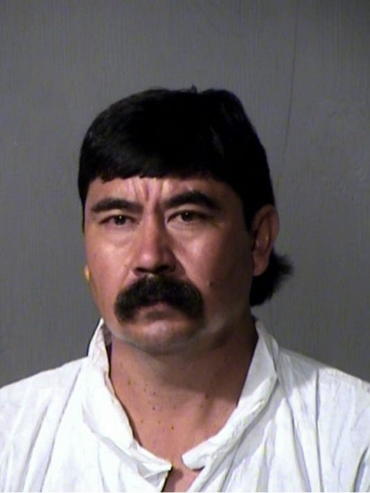 Jaime Silerio-Orozco, 45, accused of stabbing his wife to death on Monday booking photo.