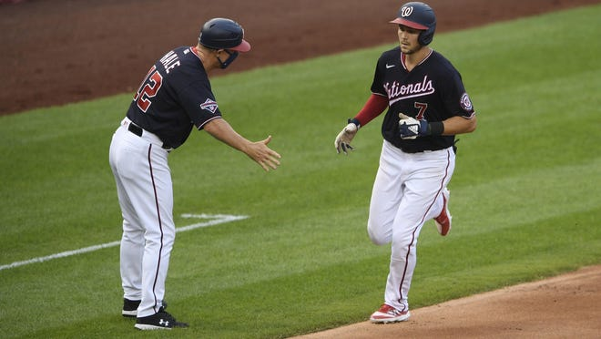 Trea Turner continued his hot streak through three games at Fenway Park this weekend.