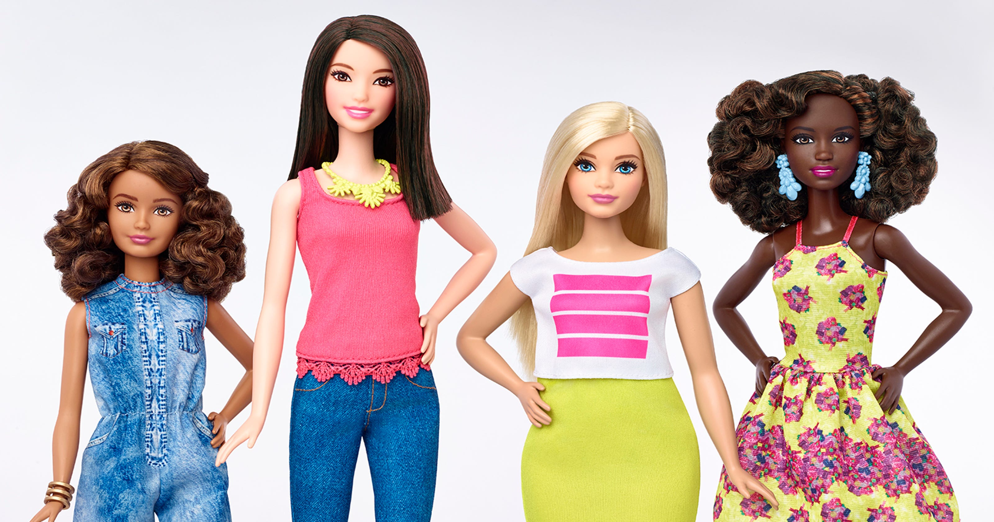 Barbie's new shapes: Tall, petite and curvy