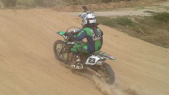 12-year-old Jordan Leon Guerrero won the 85cc class at Round 5 of the 12-round 2016 Monster Energy Guam Motocross Championships on Sunday at the Guam International Raceway.