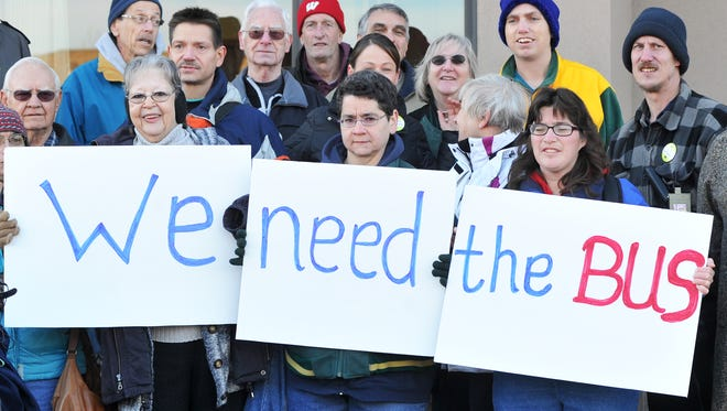 Weston residents rally for public transportation services in this 2011 file photo
