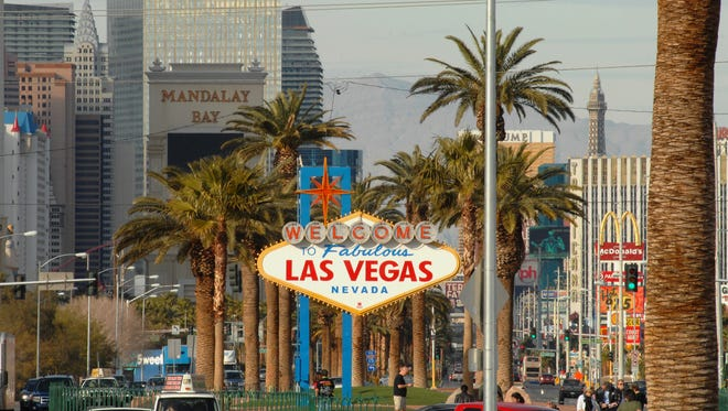 The famous neon sign welcomed 40 million visitors to Las Vegas this year.