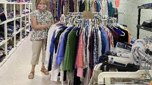 After closing for two months due to the pandemic, St. Clare's Clothing Room, which offers free clothing and small household goods, is reopening Wednesday at the St. Joseph/Bread of Life Community, 147 W. 24th St. in Erie. The store's  lead volunteer is Carol Doyle, shown here on Monday.