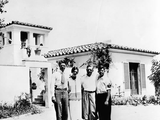 Hicks family at Villa Theresa c. 1926.