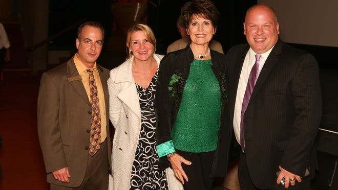 From left, Ken Katz, JFS of the Desert, Christi Caruso, Lucie Arnaz, Bob Caruso of Union Bank and a JFS of the Desert board member.
