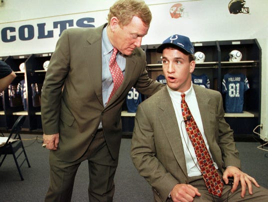 AP NFL DRAFT COLTS MANNING S FBN USA IN