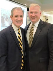 Mark Rodgers, keynote speaker, and Kevin Powers, cabinet