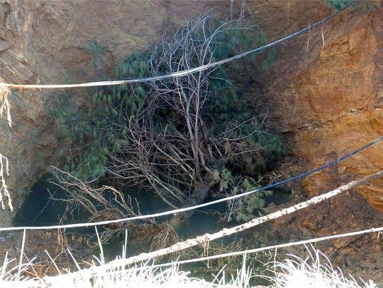 A 30-foot-wide sinkhole that emergency in September