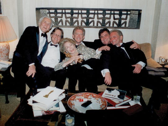 Kirk Douglas and his four sons celebrated Kirk's post-stroke