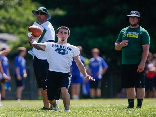 Mario Sanchez, a quarterback at Parkview High School,