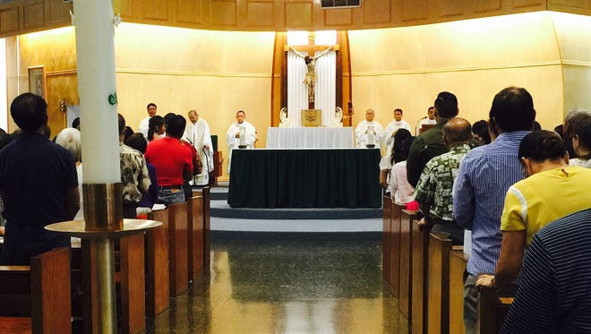 Our Lady of Peñafrancia Fiesta took place at the Nuestra Senora De Las Aguas Catholic Church in Mongmong Sept. 20.