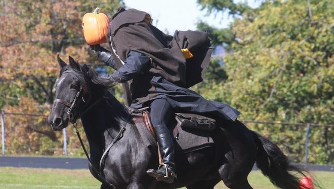 You might encounter the Headless Horseman on the annual Sleepy Hollow Haunted Hayride.