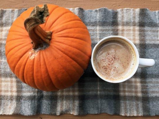 Make a pumpkin spice latte at home.