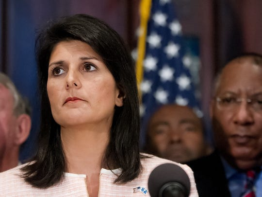 South Carolina Gov. Nikki Haley calls for state legislators to address removing the Confederate flag from the Capitol grounds.