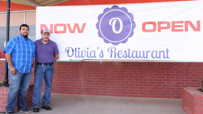 Juan Mendoza and his son Francisco Mendoza opened Olivia's Restaurant, 2011 N. Chadbourne St., on Feb. 16.