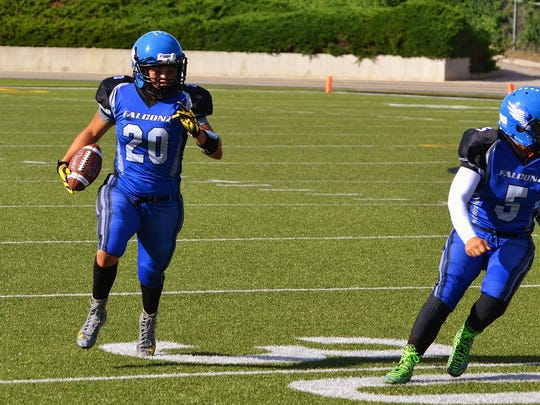 Former Dixie State standout Keeshya Cox leads the Utah Falconz semi-pro football team into the IWFL championship game for the second year in a row.