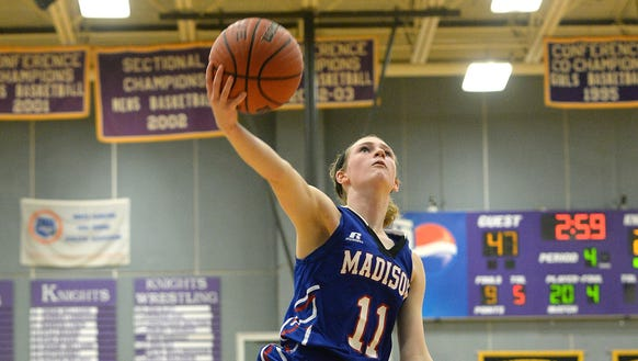 Madison senior Brooke Vilcinskas hasn't missed a game