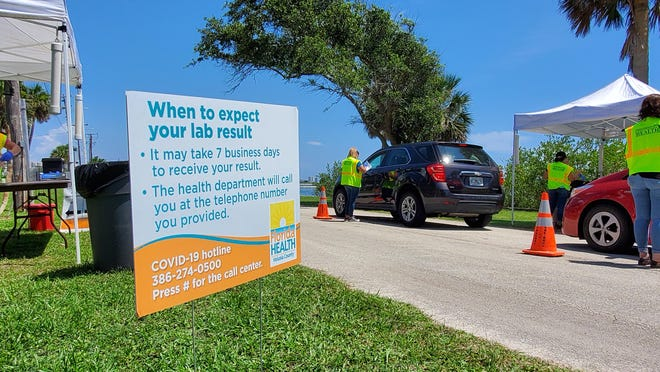 "The Florida Department of Health will bring testing sites back to the health department offices soon due to the ""brutal"" Florida summer heat at the outdoor testing sites. This one in June was in Port Orange."