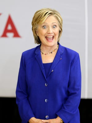 The State Department has been releasing the emails of former Secretary of State Hillary Clinton, shown here at a September presidential campaign event.