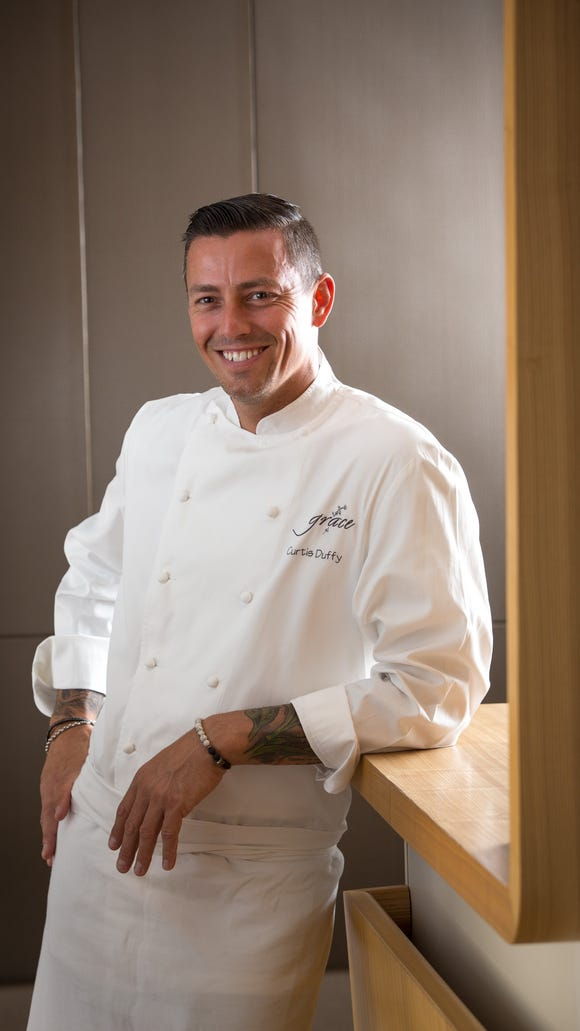 Curtis Duffy, owner and chef at Grace restaurant in Chicago, is one of the two, Michelin starred chefs participating in Euphoria this year.