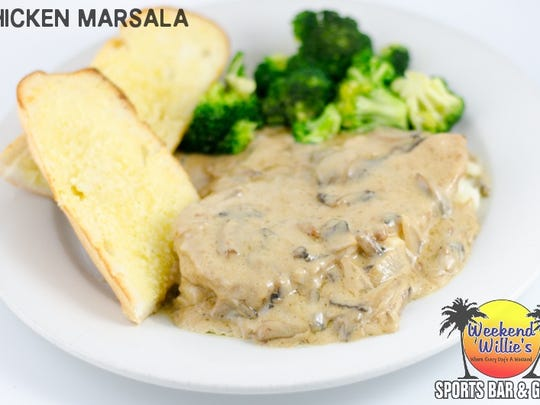 Chicken Marsala contains a homemade sauce packed with mushrooms and should be paired with Florida Avenue Ale.
