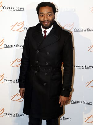 Chiwetel Ejiofor arrives at the Paris premiere of '12 Years a Slave'
