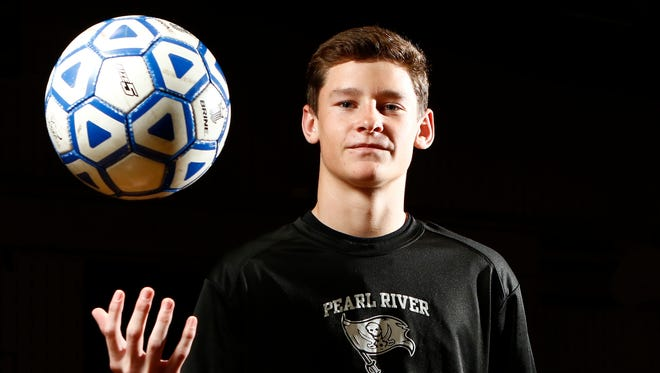 Pearl River soccer player Kevin Doorley named Rockland boys soccer player of the year. Wednesday, November 30, 2016.