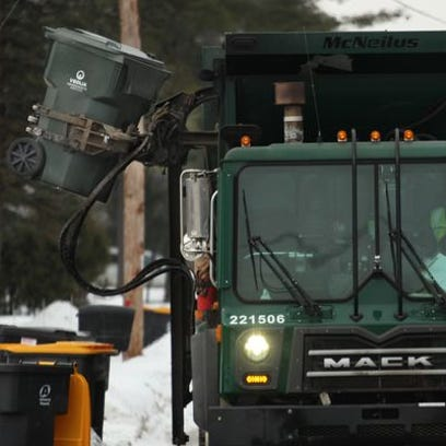 In this Daily Herald Media file photo a garbage truck