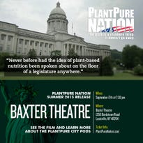 """PlantPure Nation"" is the Kentucky-based sequel to ""Forks Over Knives,"" telling the story of how vegan eats can transform health and of a battle in the state legislature about food policy.  The film show Sept. 17 at the Baxter Theater."