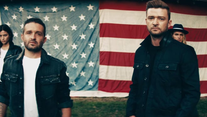 Justin Timberlake and Trace Ayala filmed a video for their William Rast fashion line in Leiper's Fork, Tenn.