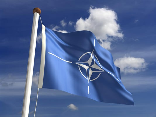 Nato flag (with clipping path)