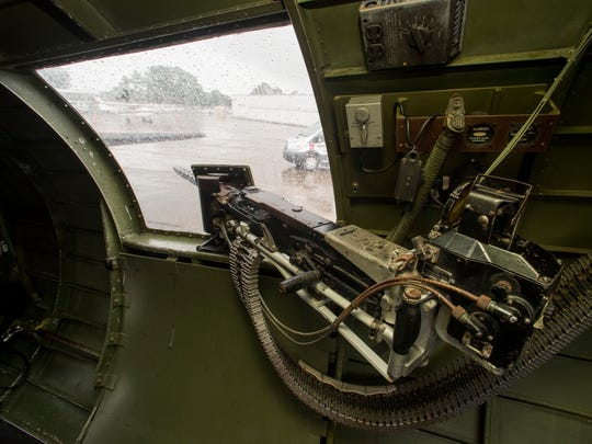 Inside the B-17 bomber Aluminum Overcast, one of the few airworthy B-17s in the world, which is currently on a tour stop at McGhee Tyson Airport from June 22 to June 24.