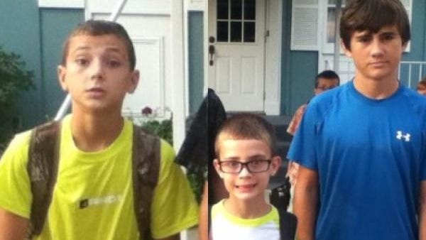 Carson, 13, left, Christian, 10, and Jamie Singletary, 16, were killed Thursday when their Pontiac Sunfire was hit by a rock truck at an unmarked gravel intersection, just a quarter-mile from their family acreage.