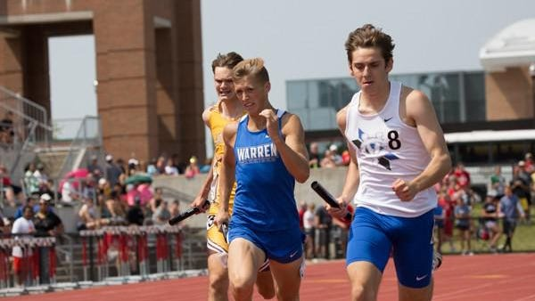 CVCA's Justin Luiza competes in the state track meet in 2019.